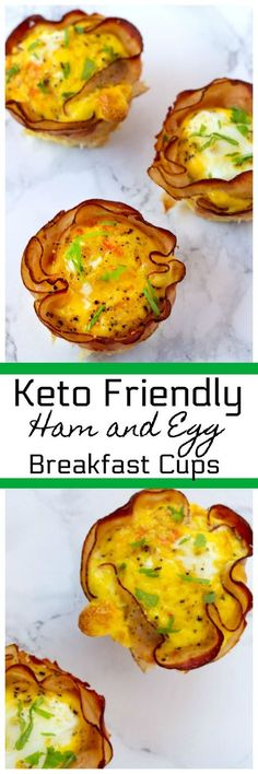 Ham and Egg Cups are a quick and easy Keto Friendly Breakfast. These Ham and Egg breakfast cups are made in a muffin pan and so easy to make. #keto #ketorecipes #breakfast #ham #Egg #muffinpanRecipe