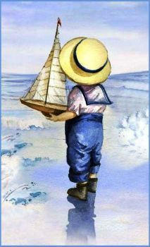 68 Ideas Children Learning Illustration For Kids Art Plage, Art Vintage, Art Et Illustration, Beach Art, Seaside Art, Vintage Pictures, Painting & Drawing, Watercolor Paintings, Watercolour