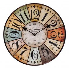 Clock Antique HOME 7308 from wholesale and import Old Town Clock, London Clock, Wall Clock Online, At Home Furniture Store, Cool Clocks, Upcycled Home Decor, Diy Clock, Clock Craft, Wood Coasters