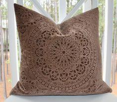 Items similar to Decorative Designer Chocolate Brown Pillow - 12 x 16 Brown Geometric Suzani Pillow Cover - Cut Velvet Brown Throw Pillow - Lumbar on Etsy Decor, Accent Pillows, Pillow Covers, Suzani, Brown Throw Pillows, Pillows, Velvet Pillows, Pillow Forms, Down Pillows