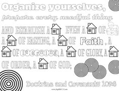 Doctrine and Covenants 109:8 Scripture Coloring Sheets