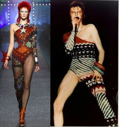 Jean Paul Gaultier Spring/Summer 2013 leotard, a take on a costume of David Bowie