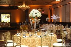 The Ballroom at Church Street: Brittany and Randy's Glamorous Gatsby Wedding   Misty Miotto Photography.