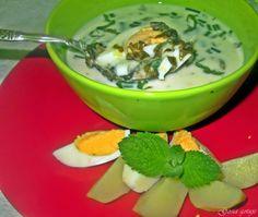 Gosia gotuje: Chłodnik szczawiowo miętowy