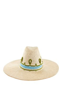 Helen hat with suede strap by LD CAREY for Preorder on Moda Operandi