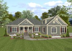 House Plan 036-00062 - Traditional Plan: 1,800 Square Feet, 3-4 Bedrooms, 3 Bathrooms