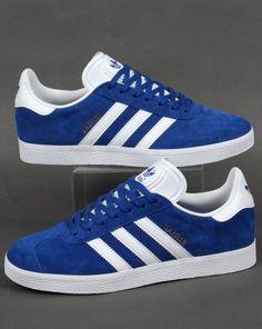 new arrival 09544 cbdbc Adidas Gazelle Trainers Royal Blue White,Originals,Classics at 80s Casuals Adidas  Schuhe