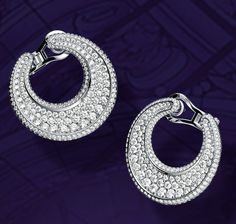 Dazzling Chopard IMPERIALE earrings, set with diamonds