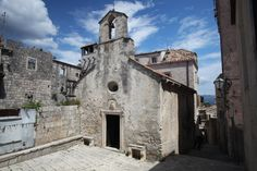 Ruins of Marco Polo's house, Korcula Town, Croatia. Photo credit: Tim Kelly.