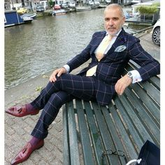 """mydapperself: """"A gentleman whose style I admire immensely, @thesuitedtraveller_ check his Instagram for more fantastic styles. #suit #tie #shoes #dapper #gent #bold #pocketsquare #original #colorful #beyourself #inspiration #ootd #love #amazing..."""
