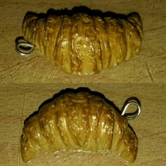 Realistic crossiant of polymer clay #handmade