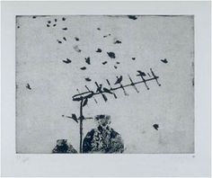 Starlings By Prunella Clough Mark Making, More Words, Starling, Weaving, Stamp, Abstract, Paper, Prints