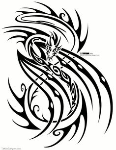 Dragon Tattoo Design Free Download 7350 Tribal picture 11561