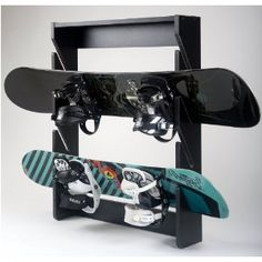 Black Friday 2014 Snowboard Rack, 4 Slot, Wall Mount, Midnight Design from Trick Rack Cyber Monday
