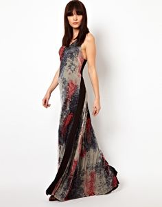 Improvd Scarlett Chiffon Maxi Dress with Racer Back