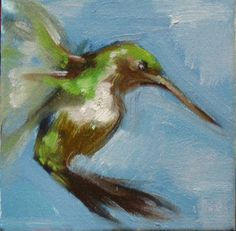 """Technicolor Dream 2"" by #HenryStinson oil on canvas 6"" x 6"""