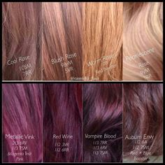 Joico Vero K Pak Color Swatches Totally Pinterest
