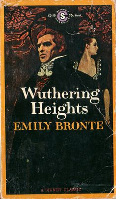 Wuthering Heights by Emily Bronte. Signet 1970. by pulpcrush, via Flickr. Artwork: James Hill