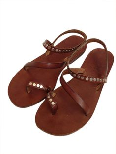 GENUINE LEATHER Handmade Sandals for woman  by BODRUMSANDALS, $98.00