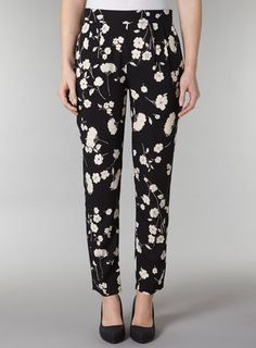 Black white tapered pants - Dorothy Perkins United States ($20-50) - Svpply