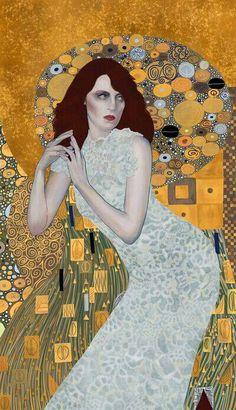 Florence X Klimt by Roberto Sanchez (robso Digital Art / Drawings & Paintings / People / ) Art Nouveau, Art Klimt, Kunst Online, Inspiration Art, Art For Art Sake, Art Plastique, Beautiful Paintings, Oeuvre D'art, Painting & Drawing