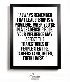 Given how hard and often thankless the role of leader is, the question becomes, why do it? Why put yourself through all the hardship and criticism? The answer is found in the most satisfying result of a leader's impact: more leadership.