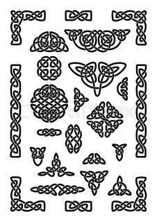 Stock-Vektor ✓ 18 Mio. Bilder ✓ Hohe Qualität fürs Web und Print | Druide-Symbol mit Geweih in keltischer Kreis