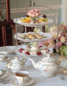 """Use the correct term for the tea you are hosting. High tea is not a fancy tea, as many people assume. Delectable scones, tea sandwiches, and cakes are the hallmark of an afternoon tea, which is served in midafternoon. A high tea, however, includes much more substantive fare, such as meat, fish, and egg dishes, as well as breads and desserts, and is offered in the early evening. Think of it as a light supper served with tea. fternoon tea, also known as """"low tea,"""" is most often taken at a low"""