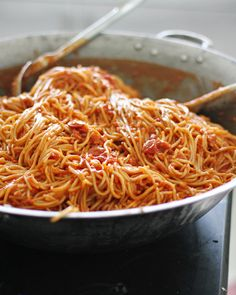 This recipe for every kid's favorite - Filipino Spaghetti - comes from the orphanage that I worked at for a year in Cebu. So simple, so good.