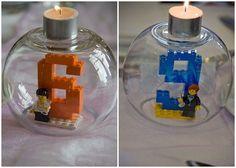 Recycle your LEGO, a deco idea! - Let's Party! Lego Ninjago, Lego Duplo, Lego Movie Birthday, Birthday Parties, Deco Lego, Pokemon Lego, Lego Friends Party, Lego Friends Birthday, Geek House