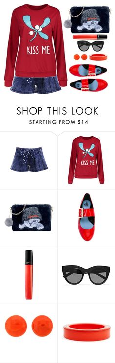 """""""Kiss me"""" by simona-altobelli ❤ liked on Polyvore featuring Lanvin, Le Specs and ZENZii"""