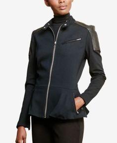 Lauren Ralph Lauren Ponte Peplum Jacket