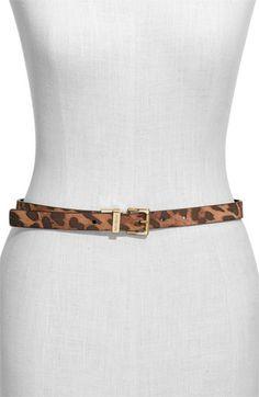 skinny leopard belt