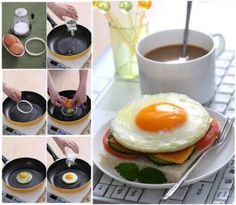 DIY Perfect Round Shaped Fried Egg