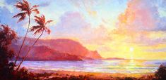 Hanalei Sunset Painting by Jenifer Prince
