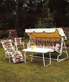 Varaxin puutarhakalusteita 1980-luvulta.