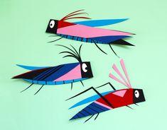 """Camille Epplin Koehl - Motif """"Bugs"""" en papier découpé Adobe Portfolio, Bugs, Illustrations, Paper Cutting, Creations, Photos, Papercutting, Pattern, Pictures"""