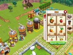 Farm Story 2 | Action Phase Storage | UI HUD User Interface Game Art GUI iOS Apps Games | www.girlvsgui.com