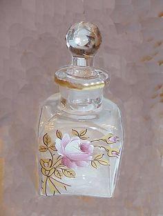 Collectible Perfume Bottles | Enameled Hand Painted Glass Perfume Bottle Collectible Europe | eBay