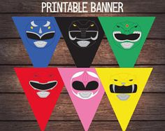 Power Ranger Birthday Banner, Power Ranger Party Banner, Power Ranger Birthday Party, PowerRanger Printable, Digital File
