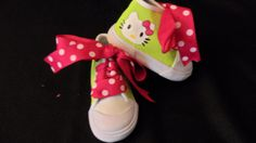 #TT Hello Kitty Lime & Pink High Top  Shoes by PoshBabyStore.com