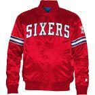 For Sale - STARTER Men's Philadelphia 76ers Team Color Logo 2013 Blue Satin Starter Jacket - See More At http://sprtz.us/SixersEBay