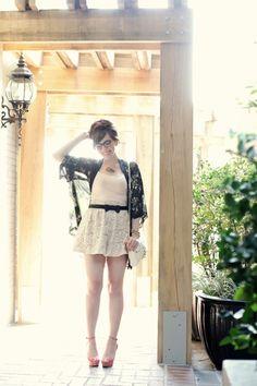 keiko lynn: call me, maybe - shorts + kimono