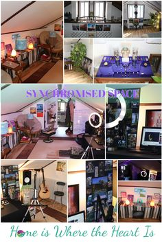 Balancing your space with the mix of technology and art can make for a beautiful living space. Symmetry is key in a synchronised living space, or what one might call Feng Shui. I have made this space into my home studio where I stream 5 times a week live on Twitch. Join Miss Synchronicity's classes on: 💛Meditation Monday 2pm EST 💚Tarot Tuesday 6pm EST 💙Whispered Art Weds 2pm EST 💜Thoughtful Thursday 6pm EST 💗Fantasy Friday 2pm EST