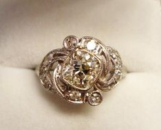 1.27ct Antique Cushion Cut Diamond in Vintage Ring I need it!!