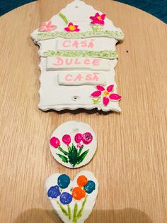 Casa dulce casa – ornament DIY – Daniela's Art of Hobby Sweet Home, Ornaments, Art, Sweets, Art Background, House Beautiful, Kunst, Christmas Decorations, Performing Arts