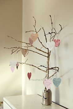heart tree with little love notes