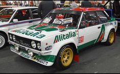 Fiat 131 Abarth Alitalia racing / NA . Fiat Cars, Rc Cars, Sport Cars, Classic Race Cars, Fiat Abarth, Rally Car, Fiat 500, Jdm, Peugeot