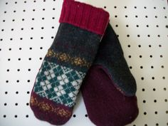 Lots of upcycled sweater mittens in this shop. Have a look!