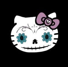 Hello Kitty Sugar Skull Cross Stitch Pattern | Los Angeles Needlework